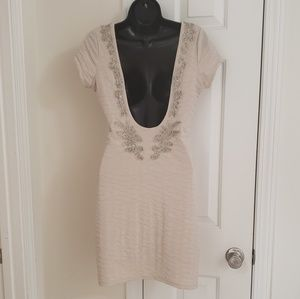 Free People Beaded Dress Size Small *SEXY LOW BACK